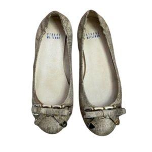 Stuart Weitzman bow flat shoe Size 6